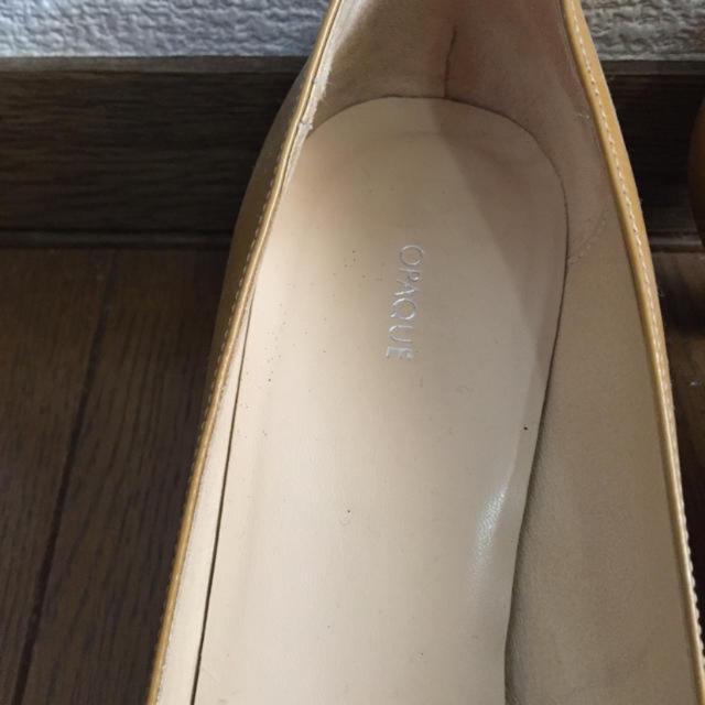 OPAQUE(オペーク)のOPAQUEエナメルパンプス イエロー レディースの靴/シューズ(ハイヒール/パンプス)の商品写真
