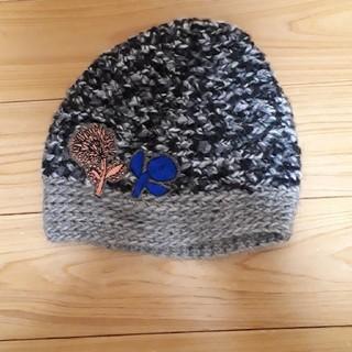 ミナペルホネン(mina perhonen)の美品minaperhonenミナペルホネン×ヒトミシノヤマ ニット帽(ニット帽/ビーニー)