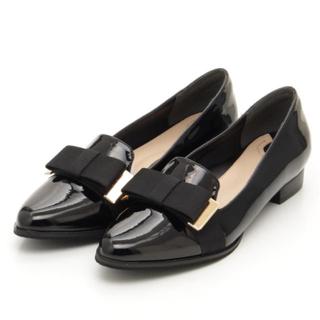 ランダ(RANDA)のPさま専用❤︎ RANDA 美品✨ リボン オペラシューズ ブラック(ローファー/革靴)