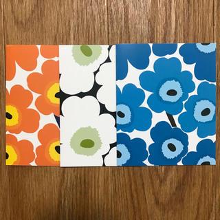 マリメッコ(marimekko)の【マリメッコ】UNIKKO NOTECARDS A(使用済み切手/官製はがき)
