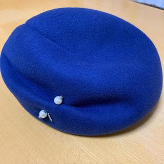 ランバンオンブルー(LANVIN en Bleu)のベレー帽 ロイヤルブルー(ハンチング/ベレー帽)