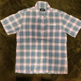 エクストララージ(XLARGE)のX-LARGE チェックシャツ 半袖シャツ パープル(シャツ)
