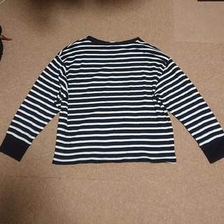 ジーユー(GU)の未使用 GU ワッフル ボーダーTシャツ XL(Tシャツ(長袖/七分))