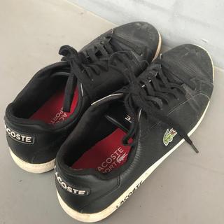 ラコステ(LACOSTE)のラコステ Lacoste 靴 メンズ 合皮 ビジネス シンプル スニーカー ブラ(スニーカー)