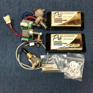 エピフォン(Epiphone)のEpiphone ProBucker 2&3 ゴールド配線済みアッセンブリー(エレキギター)