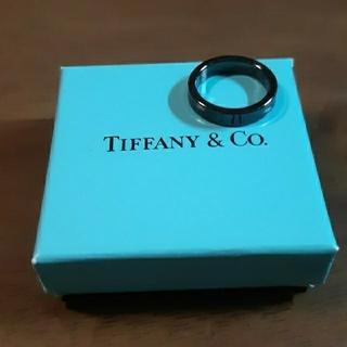 ティファニー(Tiffany & Co.)のTIFFANY ティファニー チタン 1837 ナローリング  ブラックチタン(リング(指輪))