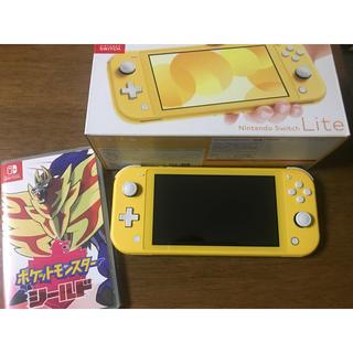 ニンテンドースイッチ(Nintendo Switch)のNintendo Switch Lite イエロー ポケットモンスター シールド(家庭用ゲーム機本体)