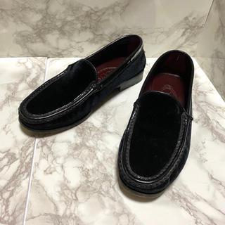 トッズ(TOD'S)の☆美品 TOD's 21.5cm ローファー 黒(ローファー/革靴)