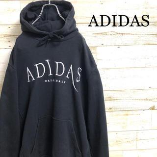 アディダス(adidas)の*アディダスオリジナルス*スウェットパーカー*刺繍ロゴ*L*(パーカー)