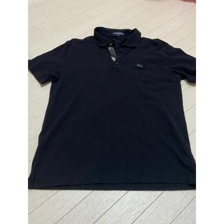 BURBERRY - バーバリー ポロシャツ 黒 メンズ LL