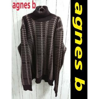 アニエスベー(agnes b.)のagues b アニエスベー フランス製 厚手 ハイネック 黒 ニット セーター(ニット/セーター)