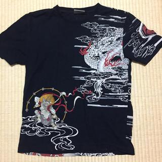 インフィニティ(Infinity)の風神雷神図 和柄Tシャツ 胤富仁帝(Tシャツ/カットソー(半袖/袖なし))