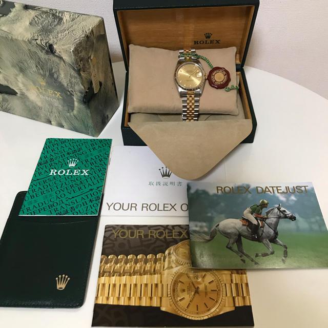 エアキング 値上�り / ROLEX - 本物 ロレックス デイトジャスト 16233G X番 オー�ーホール 仕上�済�通販 by K's diamond.co's shop