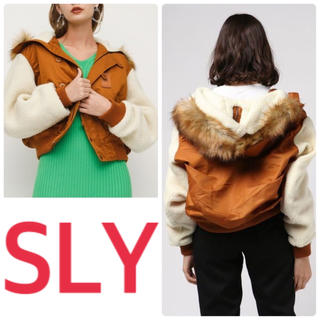 SLY - SLY ★ 激かわ フード ボアスリーブ MA-1風 N2-B ジャケット