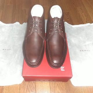 リーガル(REGAL)のまちゃこ様専用 リーガル ブーツ25.0 ダークブラウン本皮(ブーツ)