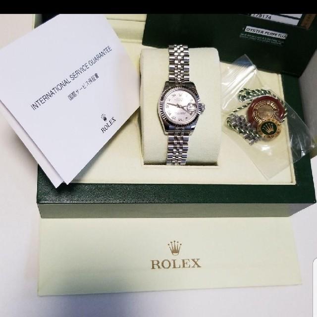ホイヤー リンク 、 ROLEX - ROLEXディトジャスト179174百貨店購入の通販 by Airan☆