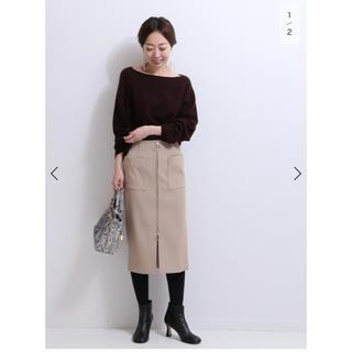 ノーブル(Noble)のNOBLE フープジープタイトスカート(ひざ丈スカート)