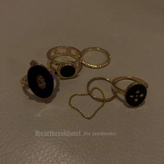 ♥️ Vintage Gold Retro Modern Rings(リング(指輪))