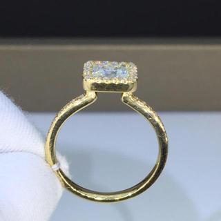 【1カラット  】プリンセスカット モアサナイト  ダイヤモンド リング(リング(指輪))