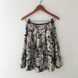 デミルクスビームス(Demi-Luxe BEAMS)の美品 デミルクスビームス  フレアスカート 花柄(ひざ丈スカート)