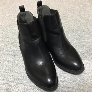グローバルワーク(GLOBAL WORK)の美品♡サイドゴアブーツ 黒 M グローバルワーク(ブーツ)