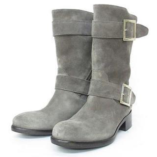 ペリーコ(PELLICO)のペリーコ PELLICO エンジニア ブーツ スエード グレー 22cm 35(ブーツ)