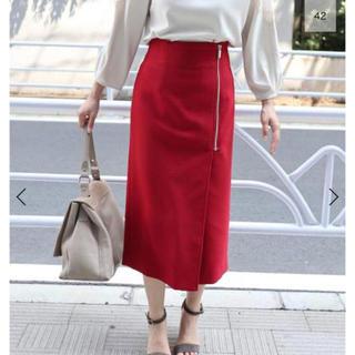 ノーブル(Noble)のNOBLE フロントジップスカート(ひざ丈スカート)