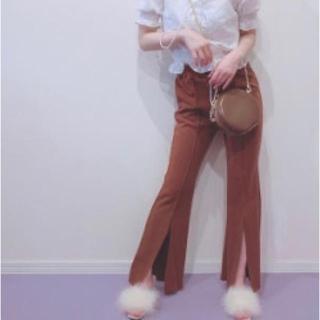 リルリリー(lilLilly)の &lottie front slit pants(カジュアルパンツ)