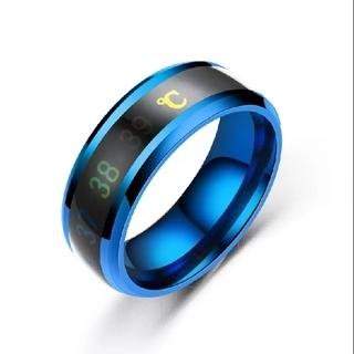 ファッションステンレス鋼指リングインテリジェント温度計温度測定リング(リング(指輪))