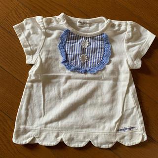 ムージョンジョン(mou jon jon)のベビー用Tシャツ、ワンピース、パンツ3着セット(Tシャツ)