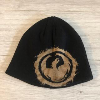 ドラゴン(DRAGON)のDRAGON (ドラゴン)ニット帽 黒 子供用(帽子)