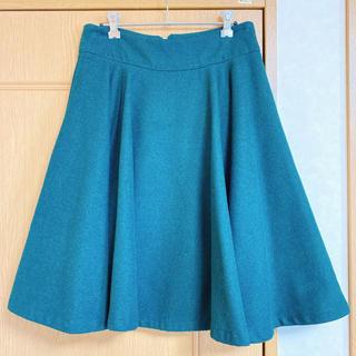 グリーンフレアスカート(ひざ丈スカート)