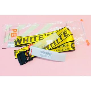 オフホワイト(OFF-WHITE)の新品 OFF-WHITE INDASTRIAL BELT ロングタイプ  (ベルト)