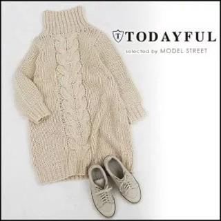 トゥデイフル(TODAYFUL)のTODAYFUL【Cocoon Knit OP】(ひざ丈ワンピース)