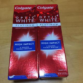 コルゲート オプティックホワイト ハイインパクト 85g  2個セット(歯磨き粉)