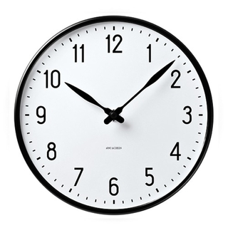 アルネヤコブセン(Arne Jacobsen)の【新品】アルネ ヤコブセン Wall Clock Station 210㎜(掛時計/柱時計)