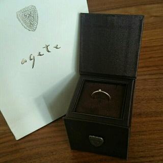 アガット(agete)のagete ダイヤリング K10(リング(指輪))