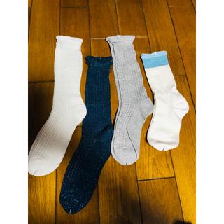 スリーコインズ(3COINS)のヨッシー様専用 靴下3足セット(画像の1番右以外)新品未使用(ソックス)