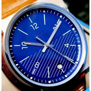 フォッシル(FOSSIL)のFOSSIL フォッシル Barstow レザーバングル ネイビー×ブラウン(腕時計(アナログ))