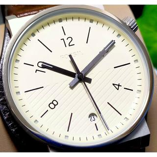 フォッシル(FOSSIL)のFOSSIL フォッシル Barstow レザーバングル オフホワイト×ブラウン(腕時計(アナログ))
