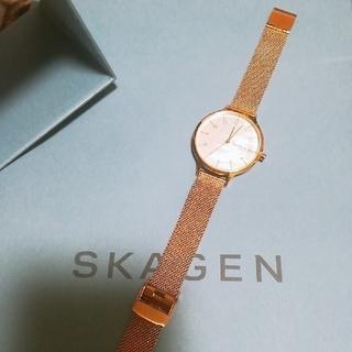 スカーゲン(SKAGEN)のスカーゲン ピンクゴールド(腕時計)