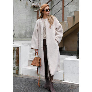 ルームサンマルロクコンテンポラリー(room306 CONTEMPORARY)の大人気商品♡在庫1点限り♡Boa Long Coat(ロングコート)