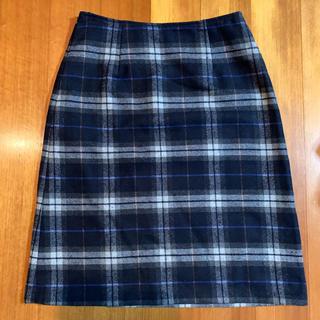 ハニーズ(HONEYS)のウール混台形スカート チェック柄(ひざ丈スカート)
