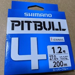 シマノ(SHIMANO)のピットブル4  200m  1.2号  シマノ PEライン(釣り糸/ライン)