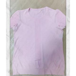 サルヴァトーレフェラガモ(Salvatore Ferragamo)のサルヴァトーレフェラガモ  サマーニット L ピンク(Tシャツ(半袖/袖なし))