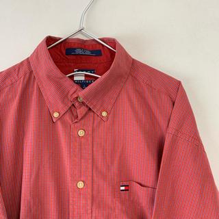 トミーヒルフィガー(TOMMY HILFIGER)の古着 90s TOMMY HILFIGER 長袖BDシャツ ビッグサイズ(シャツ)