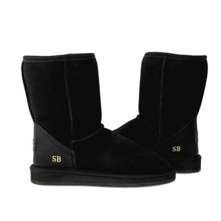 アグ(UGG)の【新品】アグ  UGG ブーツ シープスキン 本革 キャメル ブラック ブラウン(ブーツ)