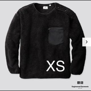 Engineered Garments - 新品 エンジニアードガーメンツ×ユニクロ フリースプルオーバー  ブラック XS