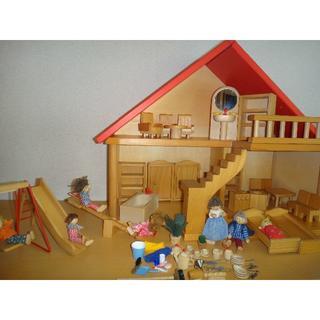 ボーネルンド(BorneLund)のニキティキドールハウス ドイツ 木のおもちゃ 人形の家 バウアー社(その他)