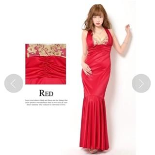 デイジーストア(dazzy store)のホルター   ロングドレス    赤   MからL(ロングドレス)